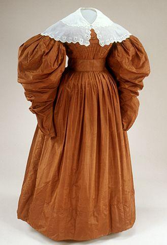 Day dress, 1834-37 US, fivecolleges.edu