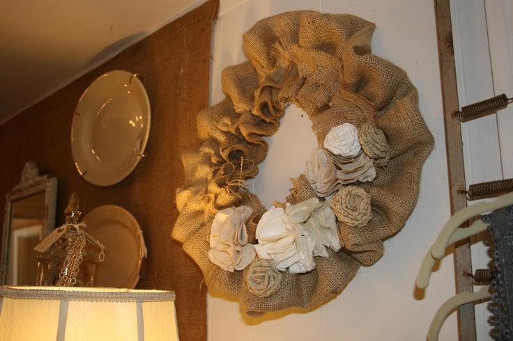 Roost - Great burlap wreath