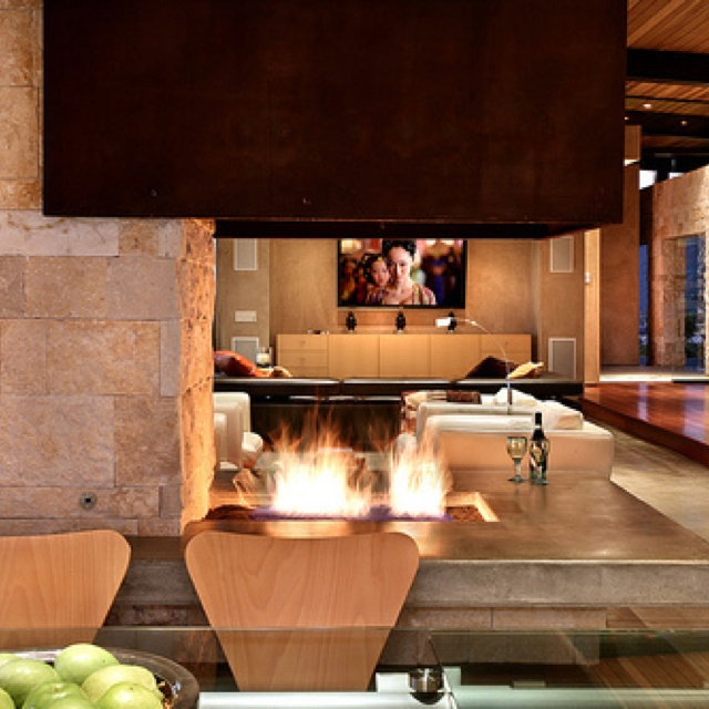 Indoor Fire Pit Perfect House Interior Pinterest