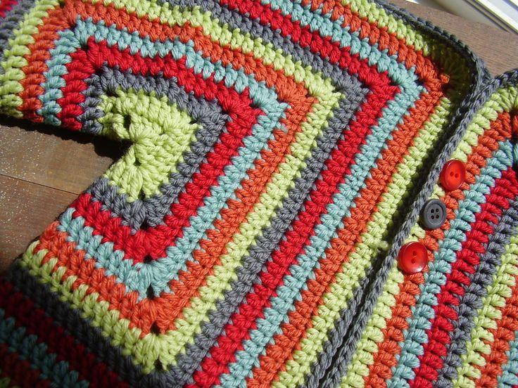 Crochet Hexagon Baby Jacket Pattern : hexagon baby jacket - love the colours marcia do crochet ...