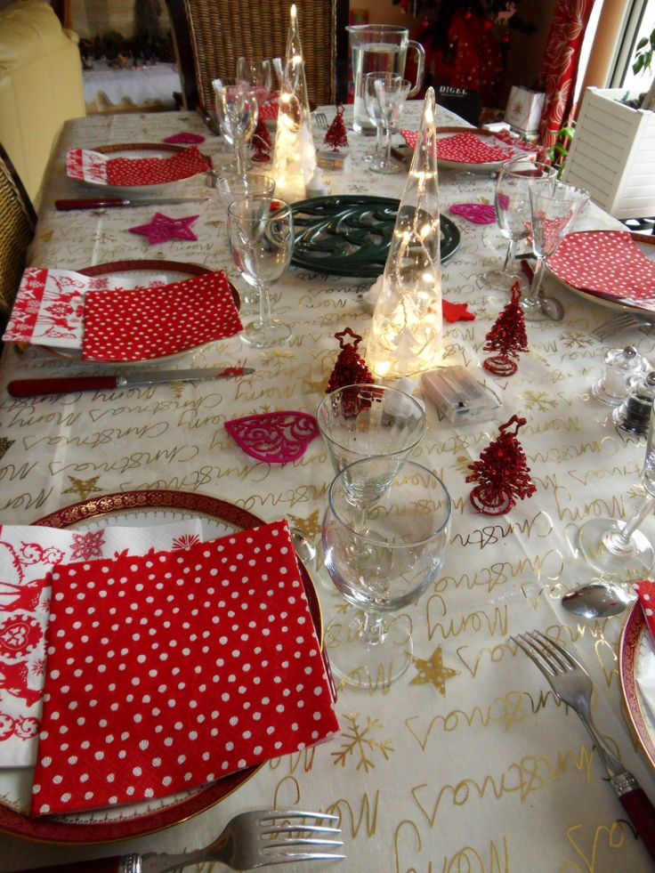 D co no l id es d co de table pinterest - Idees deco table noel ...
