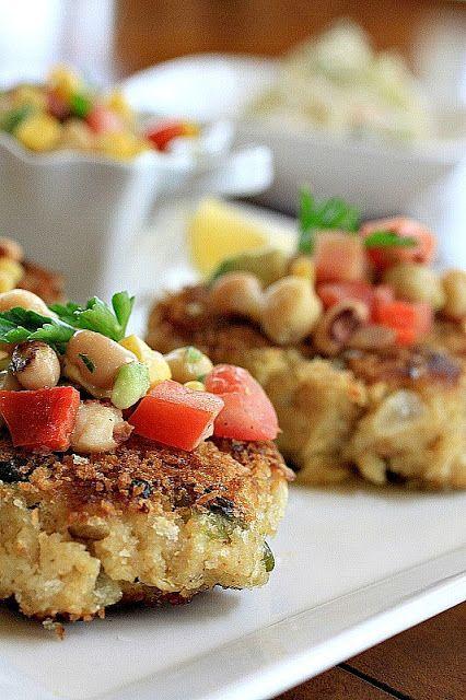 Farm: Southern Crab Cakes with Corn-Avocado-Black-eyed Pea Salsa ...