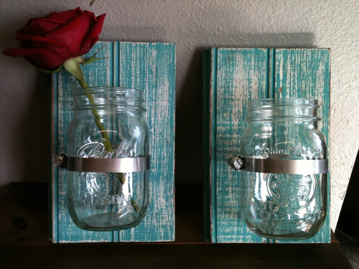 tongue groove wood mason jar vases my personal crafts