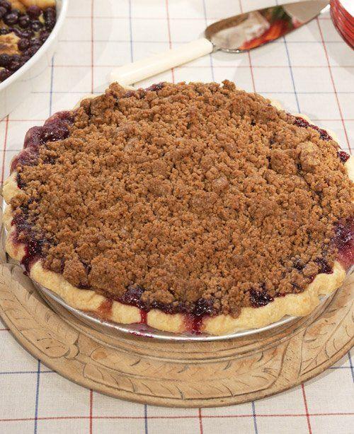 Blueberry Crumb Pie Recipe — Dishmaps