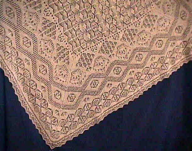 Shetland Shawl Knitted Lace Pinterest