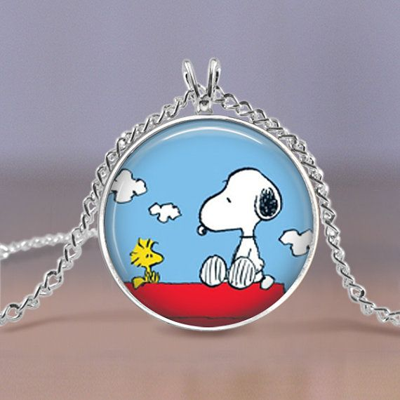jewelry necklace snoopy peanuts charm silver