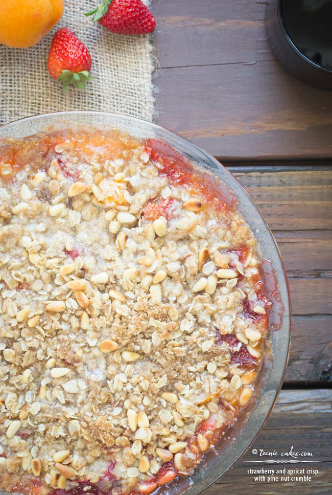 almond crumble strawberry cream cheese crumble tart apricot almond ...
