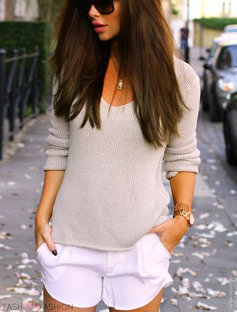 Sweater + Shorts.