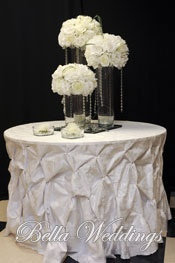 Cake Tables With Specialty Linens Wedding Cake Table Pinterest
