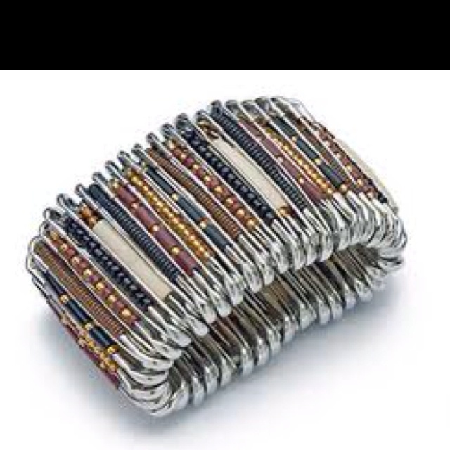 Safety pin bracelet jewelry craft ideas pinterest