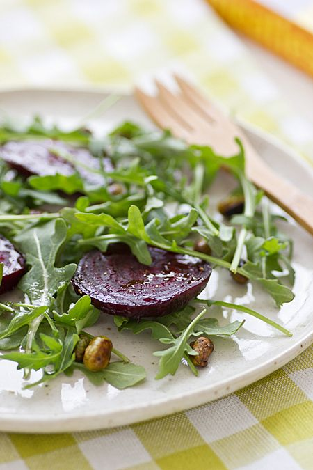 roasted beets with edamame amp arugula # eatcleanpinparty