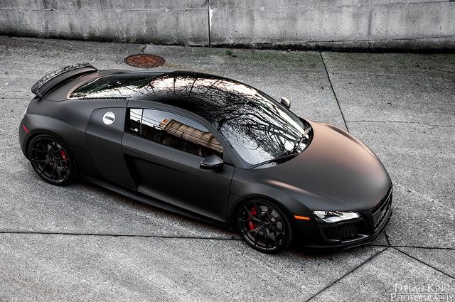Matte black audi r8 simply stunning matte black pinterest