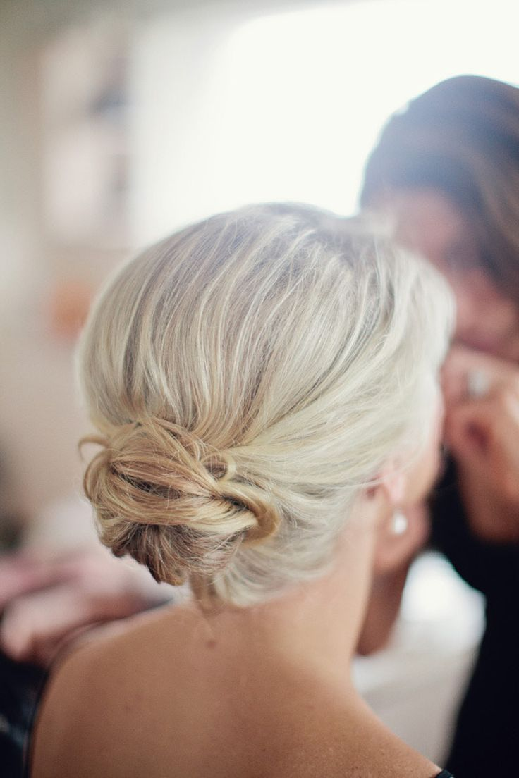 Low Bun Bridesmaid Hair #wedding | When I Say U0026quot;I Dou0026quot; | Pinterest