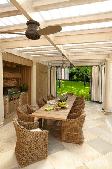 Loggia kitchen for Garden loggia designs