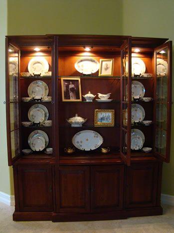 china cabinet displays home pinterest. Black Bedroom Furniture Sets. Home Design Ideas