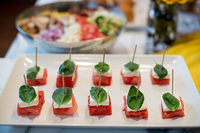 watermelon and feta skewers with mint and lime recipe watermelon feta ...