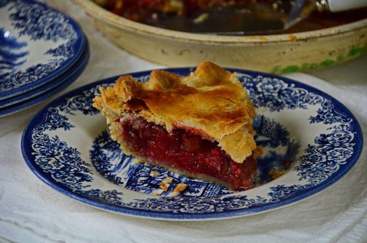 Strawberry Rhubarb Pie, a hint of Rose Water, & Mom's Best Crust