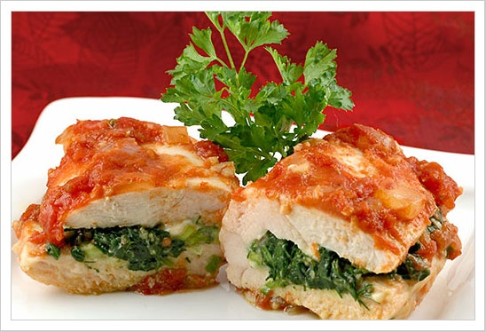 Spinach and Feta Stuffed Chicken Breasts: These chicken breasts are ...