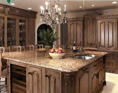 Square Island Kitchen For the Home