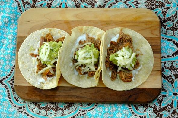 Dr. Pepper Shredded Pork Tacos