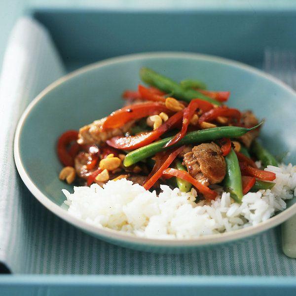 Pork and Green-Bean Stir-Fry | Meat / viande | Pinterest