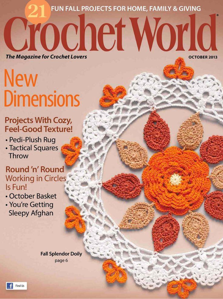 Crochet World - Oct. 2013 Crochet - magazines Pinterest