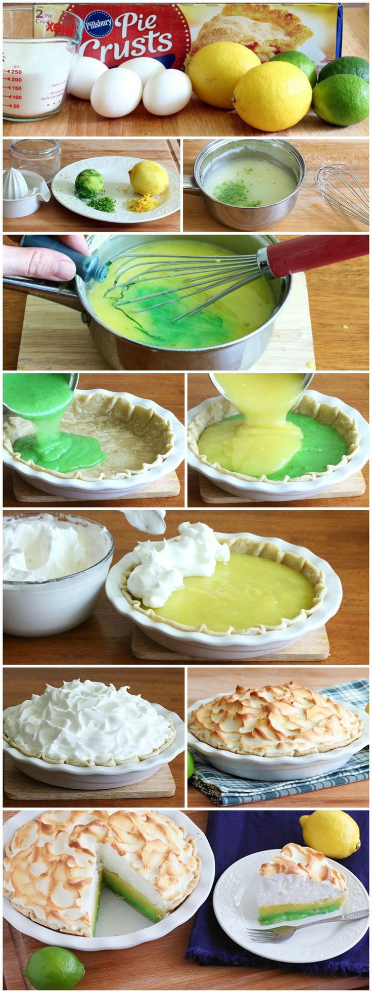 Lemon-Lime Meringue Pie #pillsbury