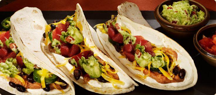 Black Bean and Goat cheese tacos 8 flour tortillas 4 oz creamy style ...