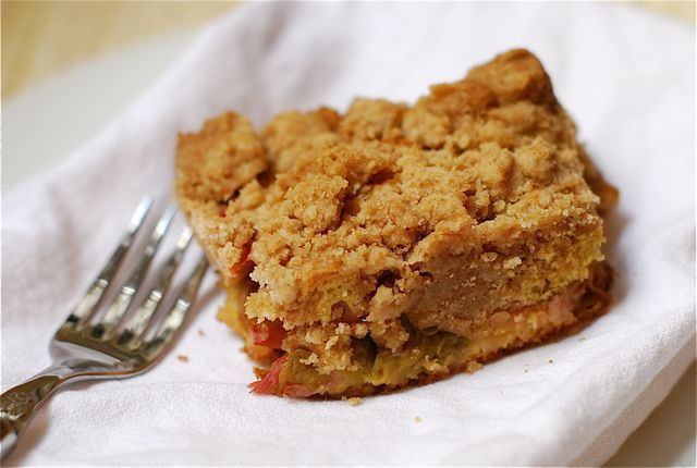Big Crumb Rhubarb Coffee Cake {Webisode #22} | The Naptime Chef