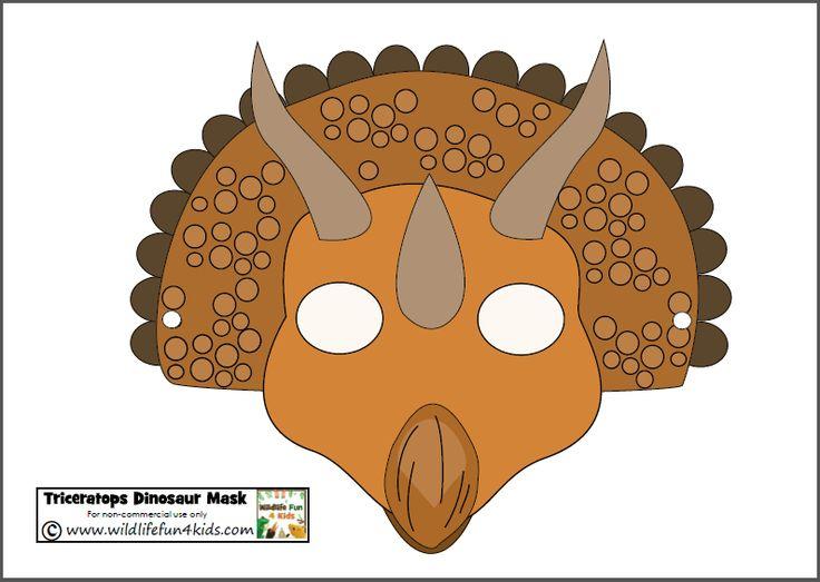 Ridiculous image regarding printable dinosaur masks