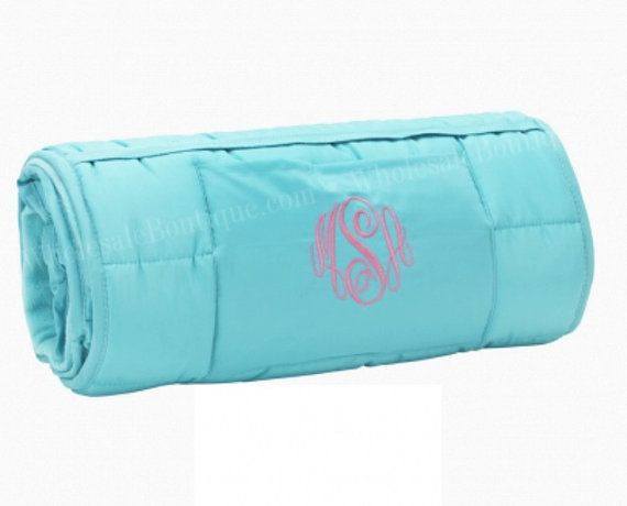 Personalized Roll Up Nap Mat With Blanket And Pillow For