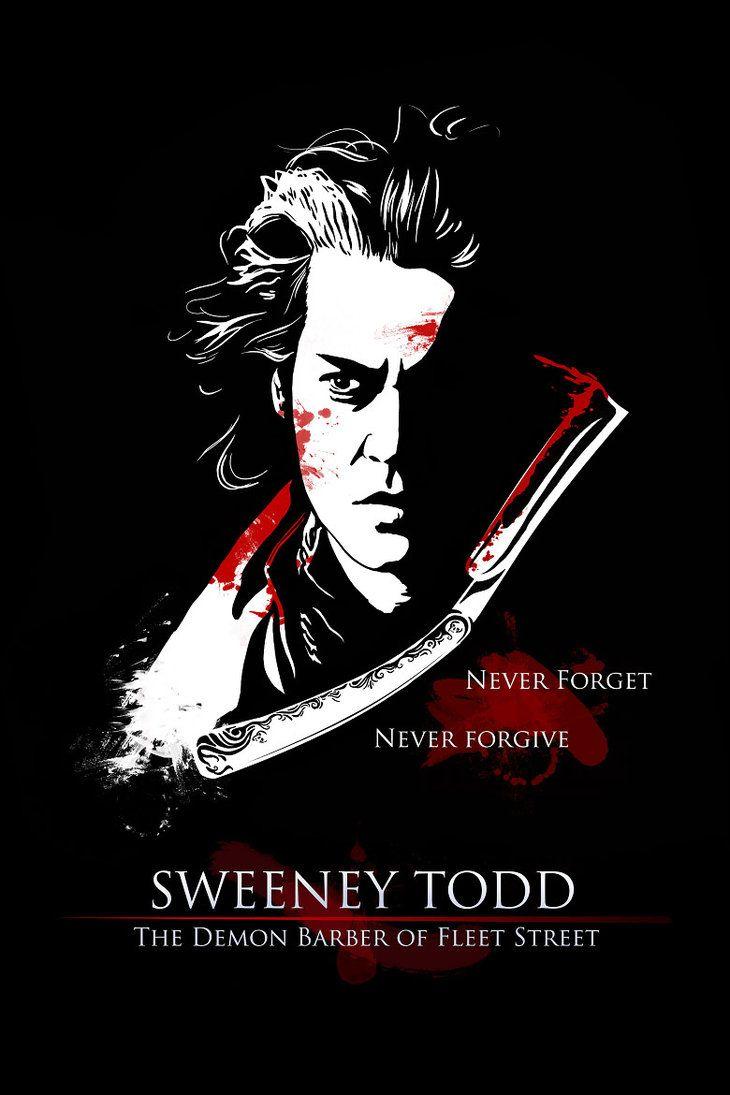 Sweeney todd poster by angela t tim burton tattoo ideas for Sweeney todd tattoo
