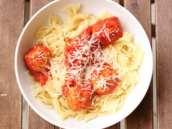 "Cannellini Bean Vegetarian ""Meatballs"" With Tomato Sauce Recipe ..."