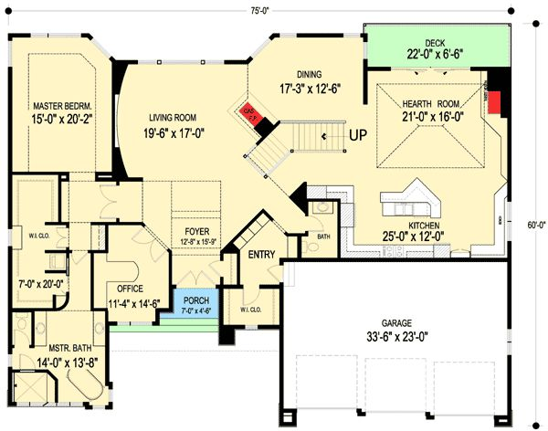 Inspired By Frank Lloyd Wright Floor 1 House Plans