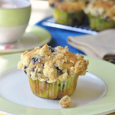 Blueberry Lemon Crumble Muffins | Not Just for Breakfast | Pinterest