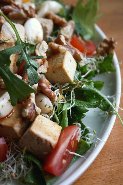 smoked tofu and walnut salad   Fitness   Pinterest