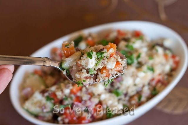 Greek Quinoa Salad : So Very Blessed | I want to eat it, eat it. | Pi ...