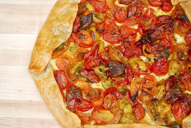 Heirloom Tomato and Ricotta Crostata