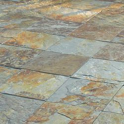 Snap Together Outdoor Multi Slate Tiles Rays Landing