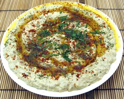 Baba Ghanoush 1 eggplant, roasted & peeled 1 lemon, juiced 3 cloves ...