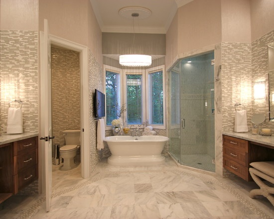Big bright and beautiful master bath for the home for Pretty master bathrooms