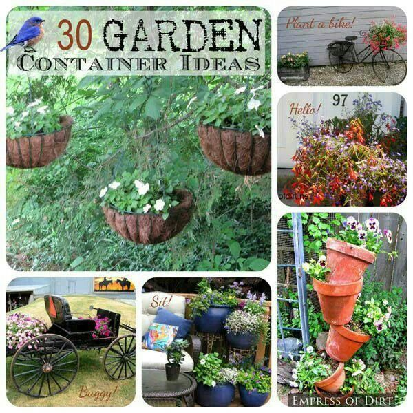 Creative Gardens Containers Idea