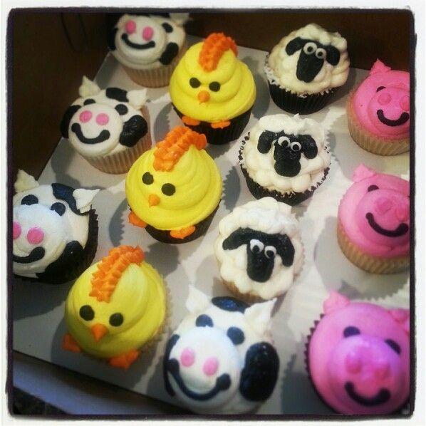 Farm animal cupcakes birthdays pinterest