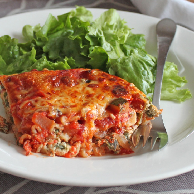 vegetarian lasagna with four cheese | One Pot | Pinterest