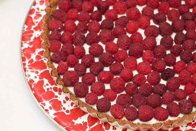 raspberry sour cream tart | Pies | Pinterest