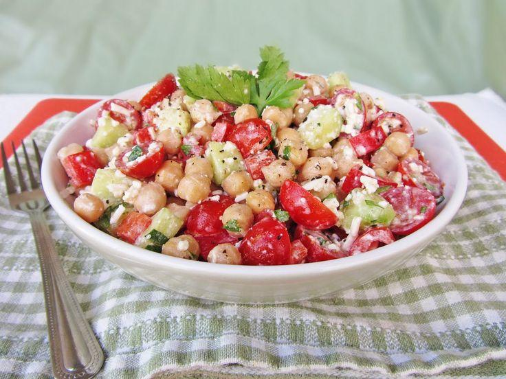 mediterranean chickpea salad | recipes | Pinterest