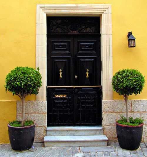 Love The Yellow With The Black Door!