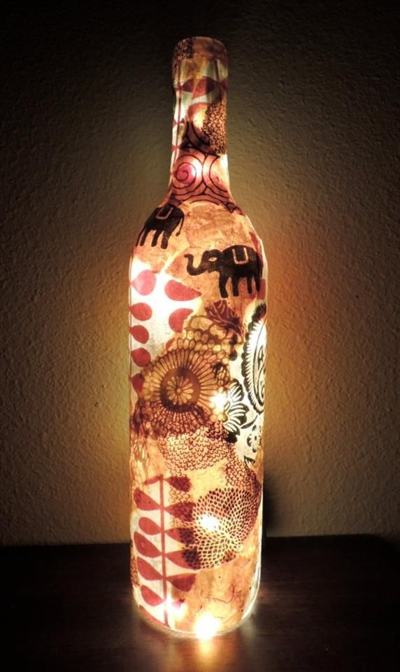 Bing Wine Bottle Crafts With Lights Diy Pinterest
