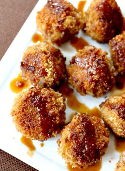 ... ? Try my Chicken and Waffle Meatballs- juicy chicken meatball