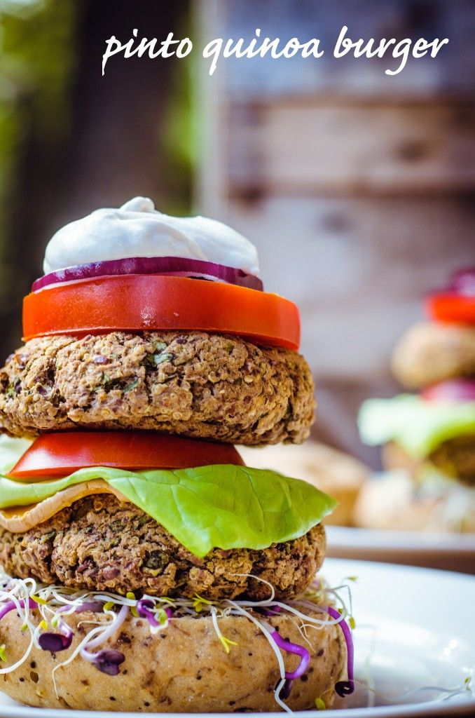 pinto quinoa burger | Food and Drink | Pinterest